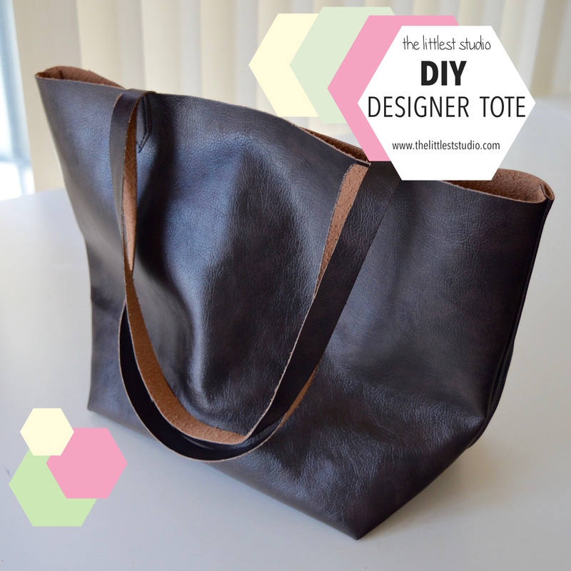 DIY Designer Tote Bag - The Littlest Studio