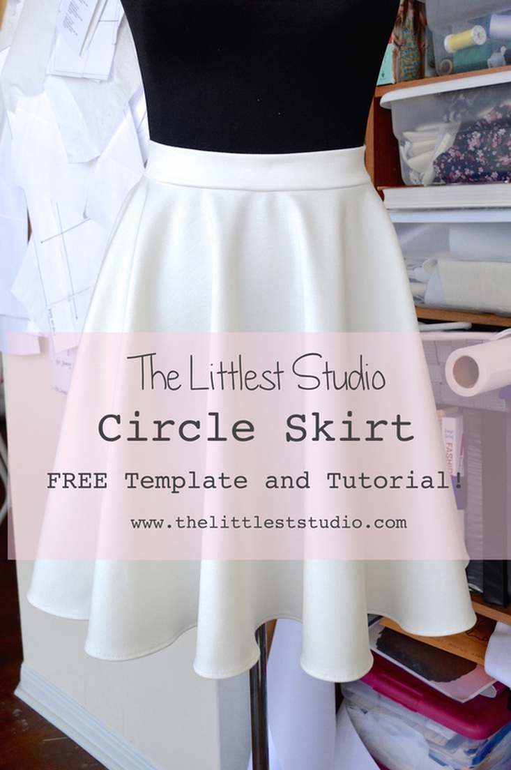 Summer Skirt Pattern Roundup featured by top US sewing blog, Flamingo Toes: circle skirt