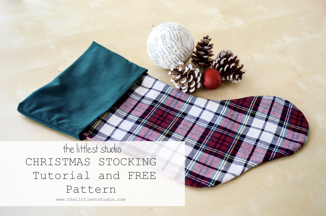 Free Christmas Stocking Pattern and Tutorial - The Littlest Studio